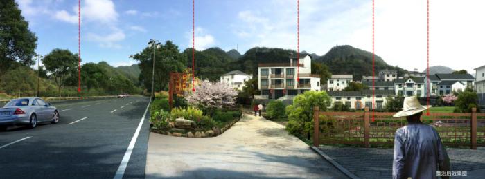 [浙江]乡镇环境综合整治改造城市规划景观设计-景观效果图2