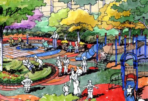 [长春]城市贸易中心公园景观住宅景观规划设计方案_4