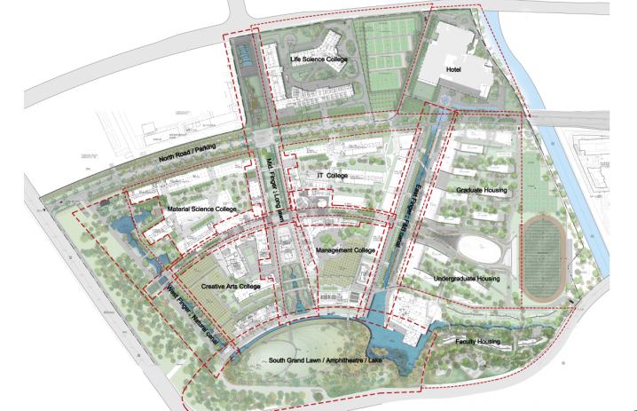[上海]现代风格自然生态大学校园景观规划设计方案_3