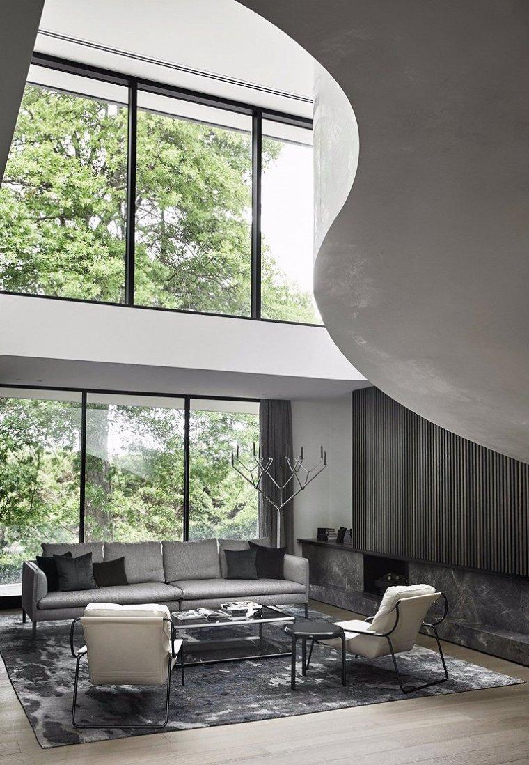 现代灰色系住宅-2