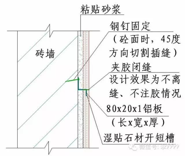 石材墙幕做法——详细节点图_16