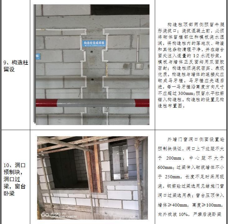 [江西]住宅楼及洋房工程二次结构施工方案(蒸压加气混凝土砌块)