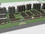 多层高层住宅小区方案设计(SU模型)