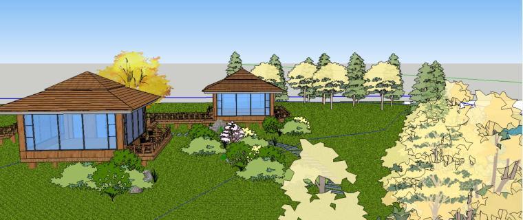 小亭子庭院景观设计模型-场景二