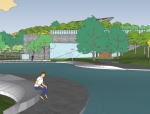 麓湖公园运动湿地场地SU模型(一)