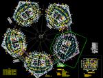 高层梯子形状金融大厦全套设计图纸