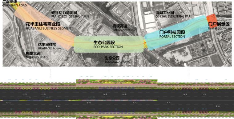 [广东]雪岗北路大和路景观方案设计(PDF+81页)-总平图