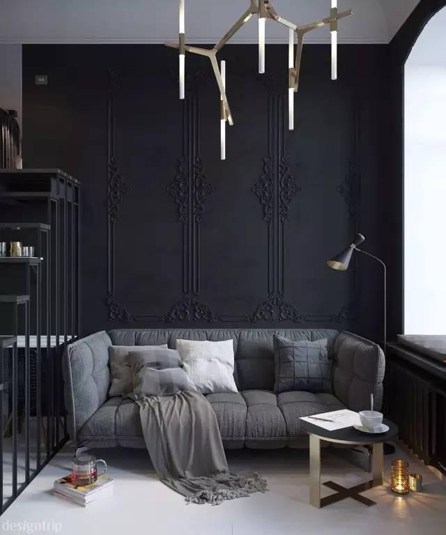 24平黑色系Loft单身女生公寓