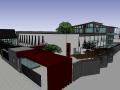 现代风格会所建筑模型设计
