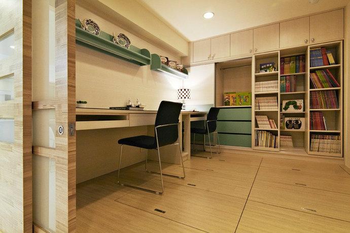 115平方米现代简约儿童房背景墙装修效果图_8