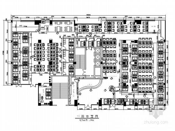 [原创]造型突出现代大学城网吧室内装修施工图