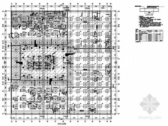 [CBD超高层]37层框筒办公楼及商业附楼结构施工图(两层车库)
