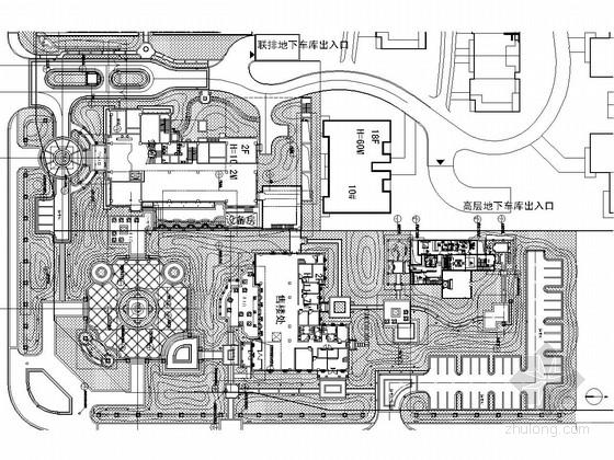 [北京]居住区会所及售楼部地块景观设计施工图 (著名景观公司)
