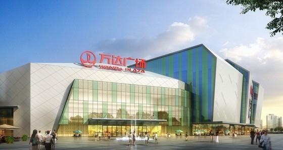 [福建]大型广场商业楼正立面及斜屋面钢结构施工图