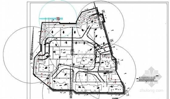 土方开挖平面布置图(CAD图)