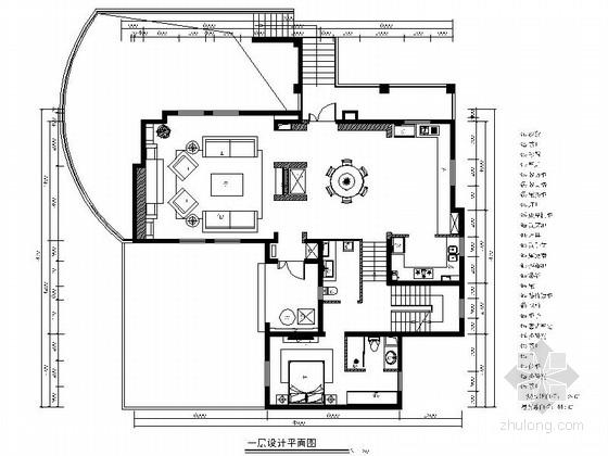 [山东]美式古典别墅样板间室内施工图(含实景照片)
