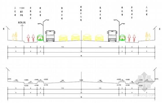 45m宽城市主干道工程全套施工图(118页 道路 排水 交通工程)