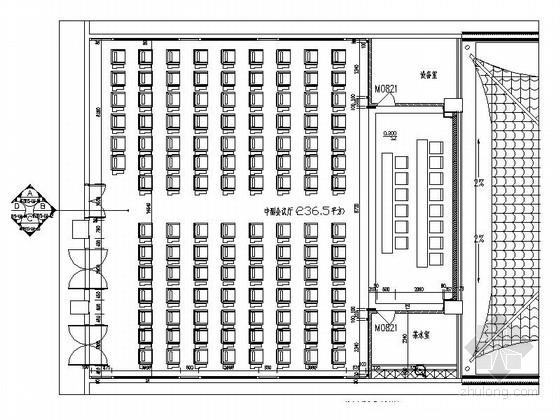 [江西]高档四星级酒店中式风格中小会议室装修施工图(含效果)
