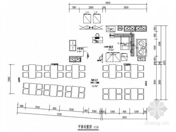 [北京]历史文化保护区新中式风格春饼店室内装修施工图(含效果)