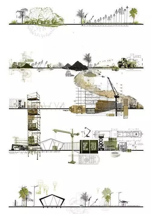 那些霸气的建筑剖面图_12