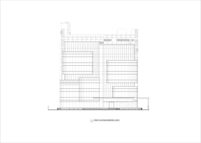 九转回环、流畅现代的车展大厅及办公楼设计_19