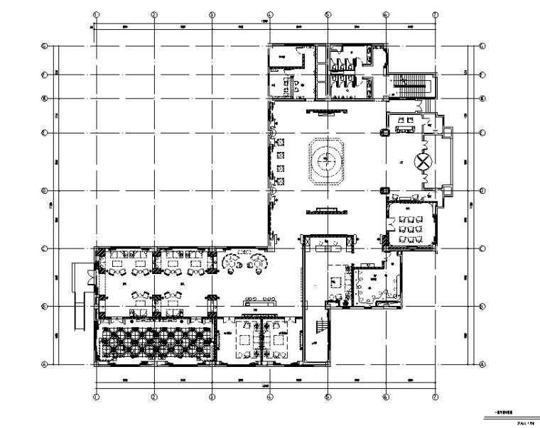 [安徽]翡翠湖碧水苑会所空间设计施工图(附效果图)