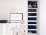 工作桌与收纳柜融为一体,小户型的实用改良方案!