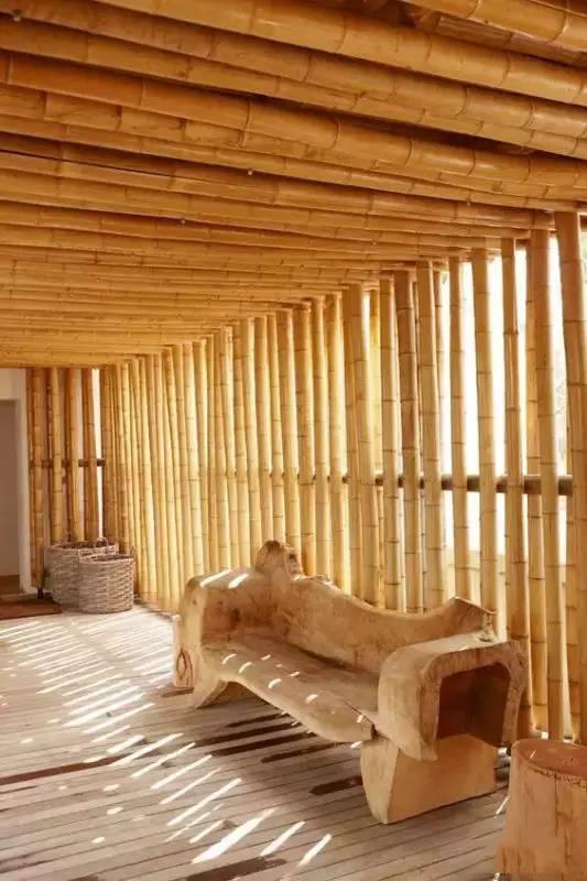 竹子建筑的民宿 走廊 公建 餐厅案例赏析