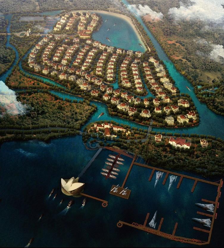 上海淀山湖上海岛庄园建筑设计