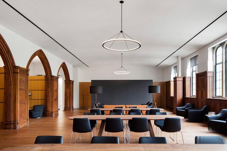 哥特式学术建筑普林斯顿大学校园内部实景图 (7)