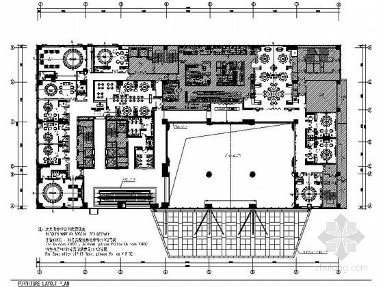 VIP包房室内装修施工图资料下载-[河北]某五星级豪华酒店中餐厅区室内装修施工图(含效果)