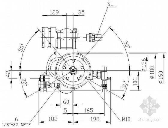 热泵单螺杆式压缩机大样图(英文)