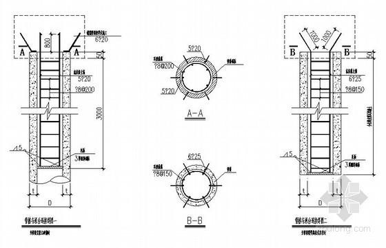某预应力混凝土管桩用做抗拔桩节点构造详图