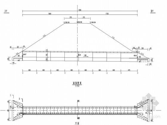1-1.5米钢筋混凝土盖板涵布置图(直线段、正交)