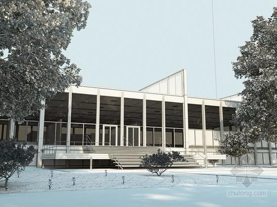 现代风格办公建筑3d模型