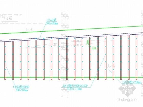 20米高边坡板肋式锚杆挡墙支护施工图