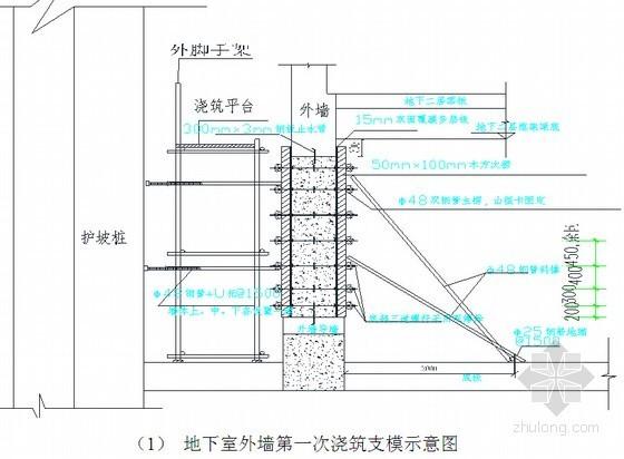 地下室结构模板工程施工方案(110页 计算详实)