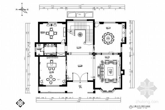 豪华欧式两层别墅室内装修图(含效果)