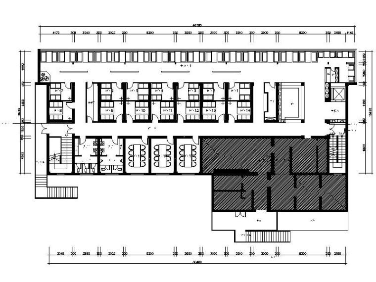 [烏魯木齊]歐式豪華浪漫西餐廳室內設計施工圖(含效果圖)