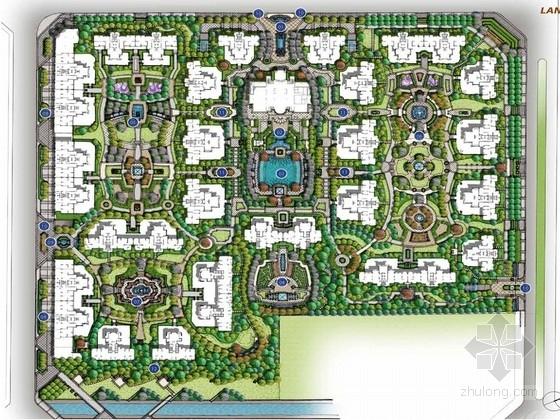 [方案][成都]自然风格的规则式园林居住区景观规划设计方案(著名公司图片
