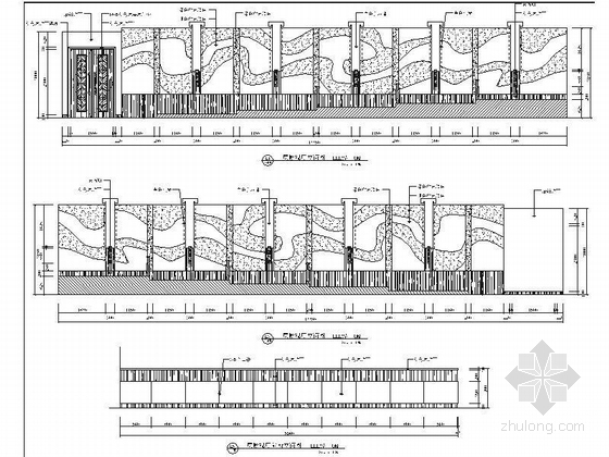 [江苏]历史文化名城高档现代风格星级宾馆装修施工图(含效果)dwg .zip影视厅立面图