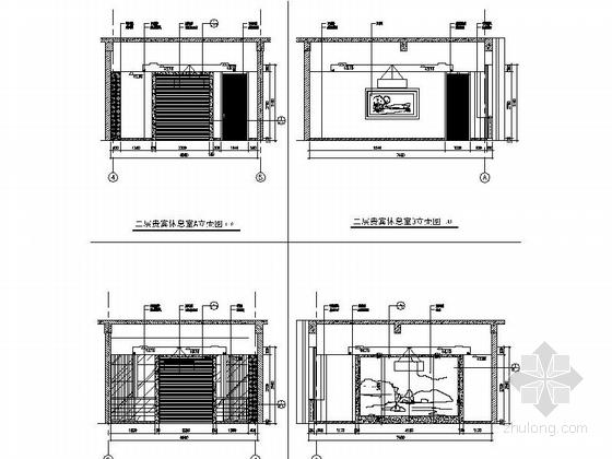 [江苏]独创哲学社会科学研究机构学院新校区图书馆装修施工图(含效果)贵宾休息室立面图