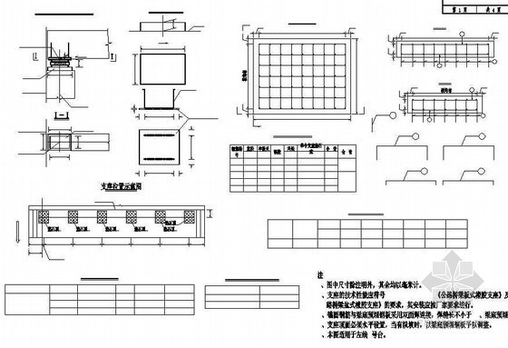 连续钢构箱梁特大桥支座、垫石构造节点详图设计
