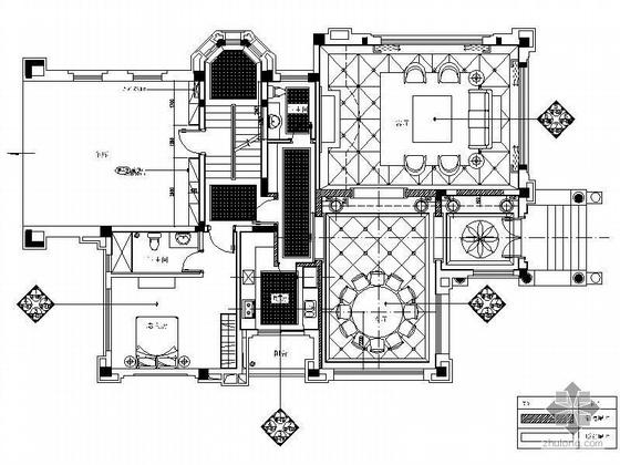 [广州]三层欧式豪华样板别墅施工图