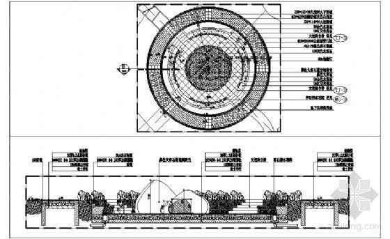 下沉式广场施工详图-4