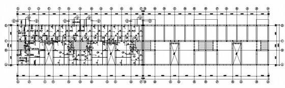 砖混结构教学楼结构施工图(六层 筏板基础)