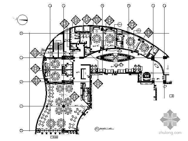 [北京]五星酒店中餐厅施工图