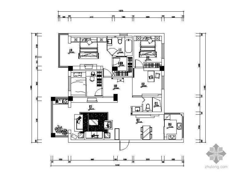 港式风格三居室装修图(含实景)