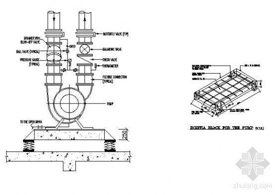 水泵接管及浮动基础图