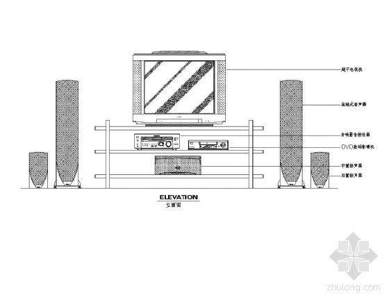 家电及尺寸图块集